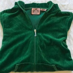 Juicy Couture Iconic Green Robertson Velour Jacket